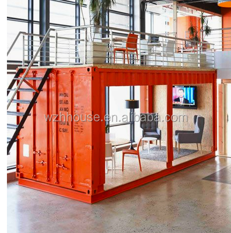 An Outside The Box Office With A Waiting Room Inside A Shipping Container
