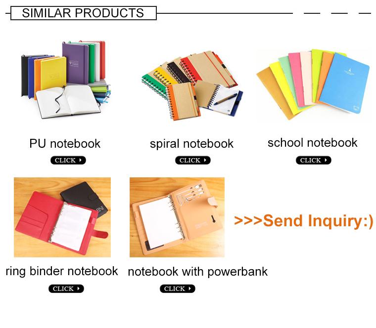 A4 personnalisé en cuir à 6 anneaux cahier d'affaires organisateur avec porte-carte d'identité, calculatrice cahier avec stylo, avec fermeture à glissière
