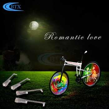 416 LED Bicycle Wheel Spoke Light String Safety Bike Cycling Wheel Spoke Lamp With Rechargeable Batteries