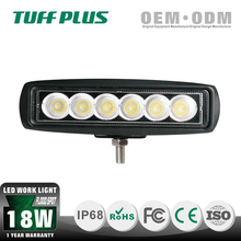 Alibaba china IP 68 waterproof 18w work light led bar