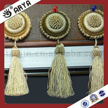 Elegant Plastic Ring Curtain Decorative Tassel Buckle Curtain Clips Curtain And Pillow Set