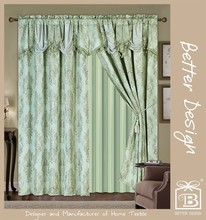 4 Colors Polyester Woven Cortinas For Home