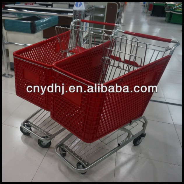 100-180L Large Volume Supermarket All Plastic Shopping Cart From Factory YD-0513