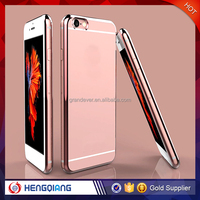 For iPhone 6/6S/6 Plus Luxury Clear View Case Cover For iPhone 6 Case Electroplate Flip Phone Cases