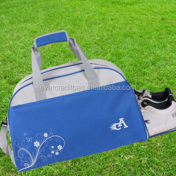 600D Polyester Sport Bag with Shoe Compartment