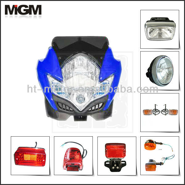 high quality motorcycle head lamp ,motorcycle head light, motorcycle tail lamp