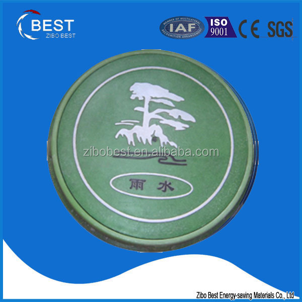 medium duty electrical manhole cover with colorful design