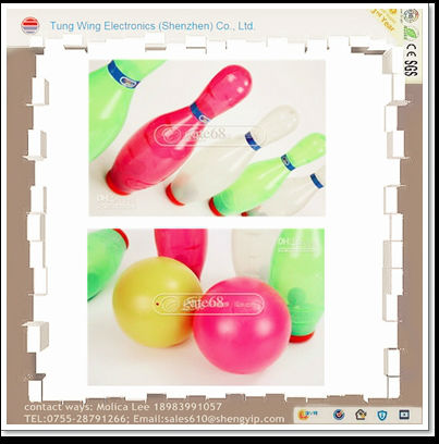 promotion gift rubber foam kids bowling pin toy