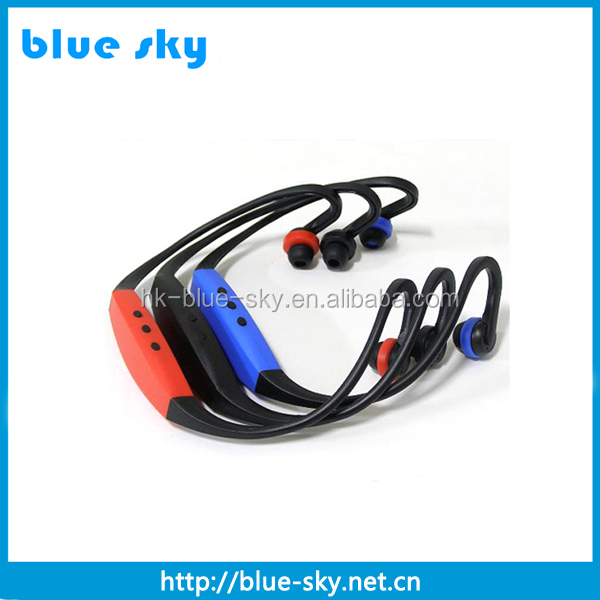 Shenzhen factory fashion wireless mp3 sport headphones with fm radio 2gb