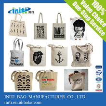 Canvas bag/2016 INITI Eco Friendly Cheap Tote Custom Canvas Bags