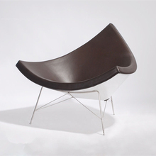 Leather artistic creativity coconut chair armchair lounge chair stylish simplicity fiberglass reception chairs