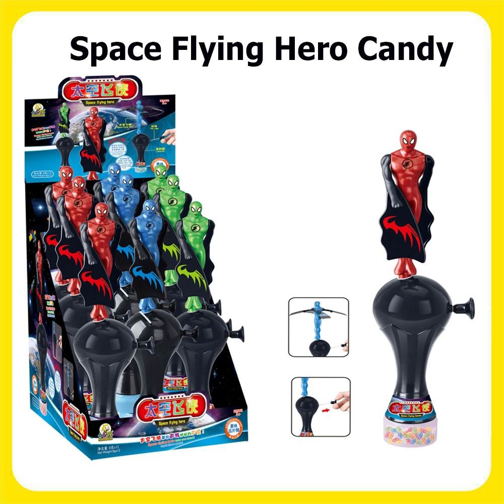 New Arrival Space flying hero Candy Toys with candy Boy toy Teenager