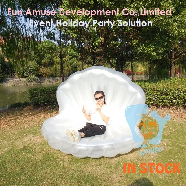 factory price giant lie low inflatable calm shell pool floaties