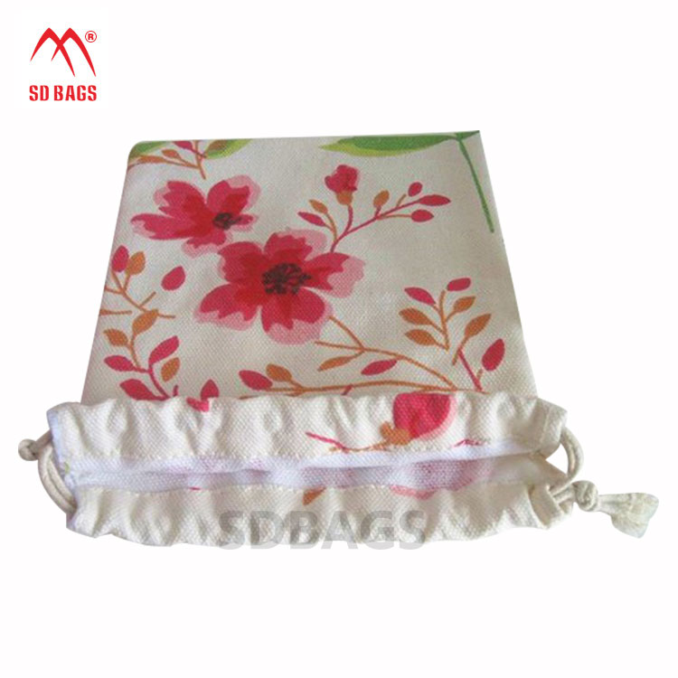 Factory Price Custom quality cheap cotton drawstring bag