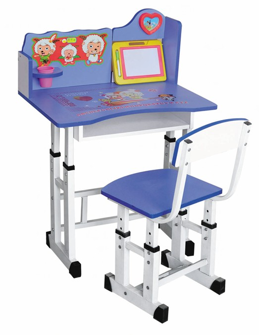 single children student school writing desk and chair,XM-282