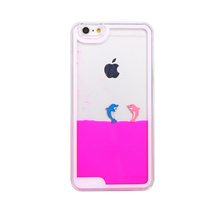 New Type Glitter Star Liquid Cell Phone Case, Cartoon Phone Back Cover Phone Case Have Ring For Iphone6