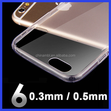 Sublimation clear TPU material mobile phone cover for iphone 6 6s for iphone 6 6s plus