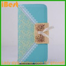 iBest flip wallet leather case for iphone 6,cheap cell phone accessory