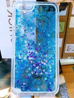 Glitter Quicksand & Stars Hard Liquid Cover Case for Huawei Mate 7