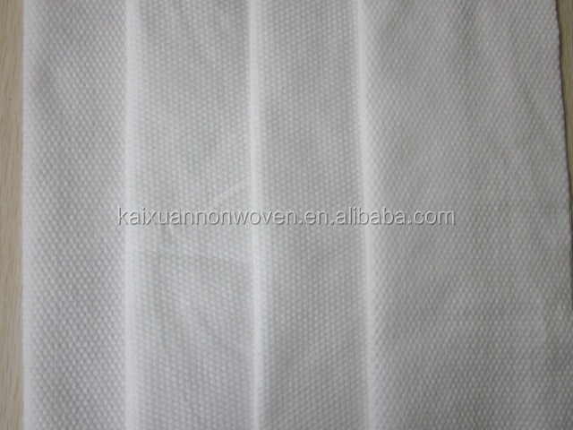white wet tissue and wipe use pearl embossed spunlace nonwoven fabric