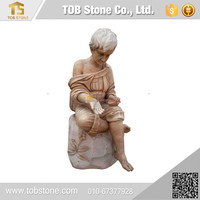 China Cheap Economical marble stone statue of children sculpture