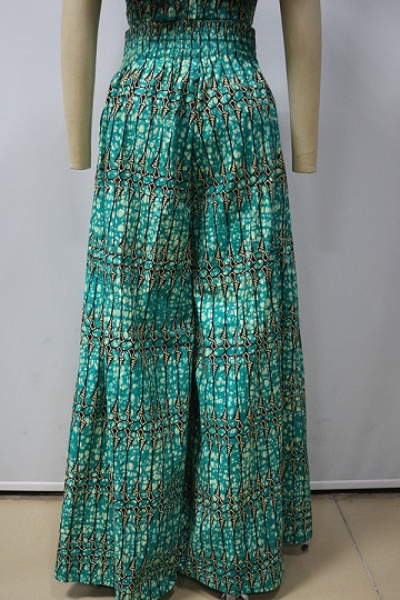 2017 fashion wax print sexy african suits wide leg african pants