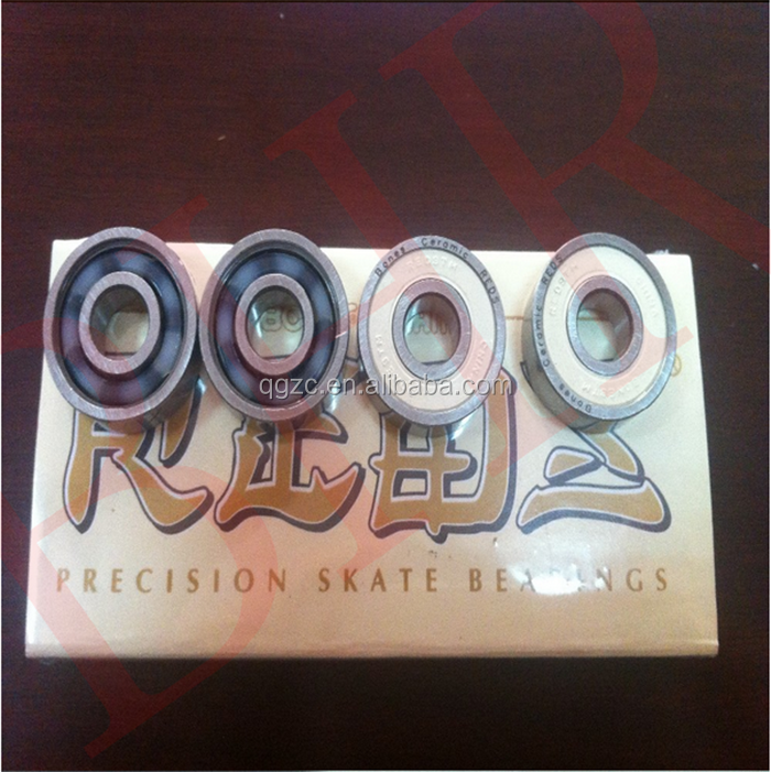 High Precision Original ceramic skate board Red bone bearing 608 8*22*7 mm 8pcs in a box