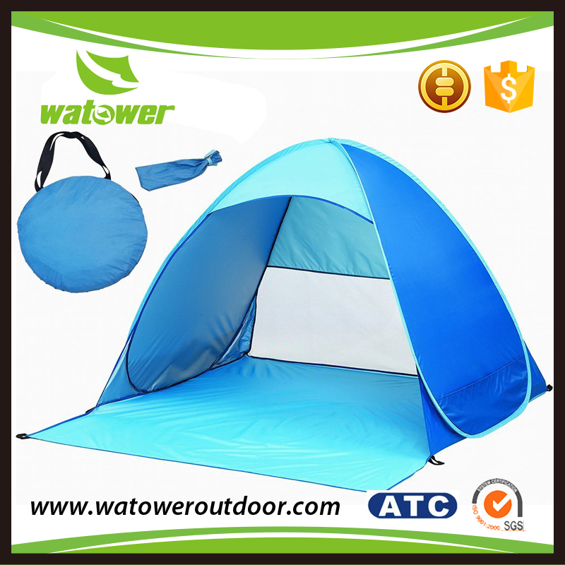 customized design customized wind proof spring steel wire pop up tent