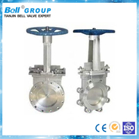 30 inch PN16 Manual flange type knife gate valve