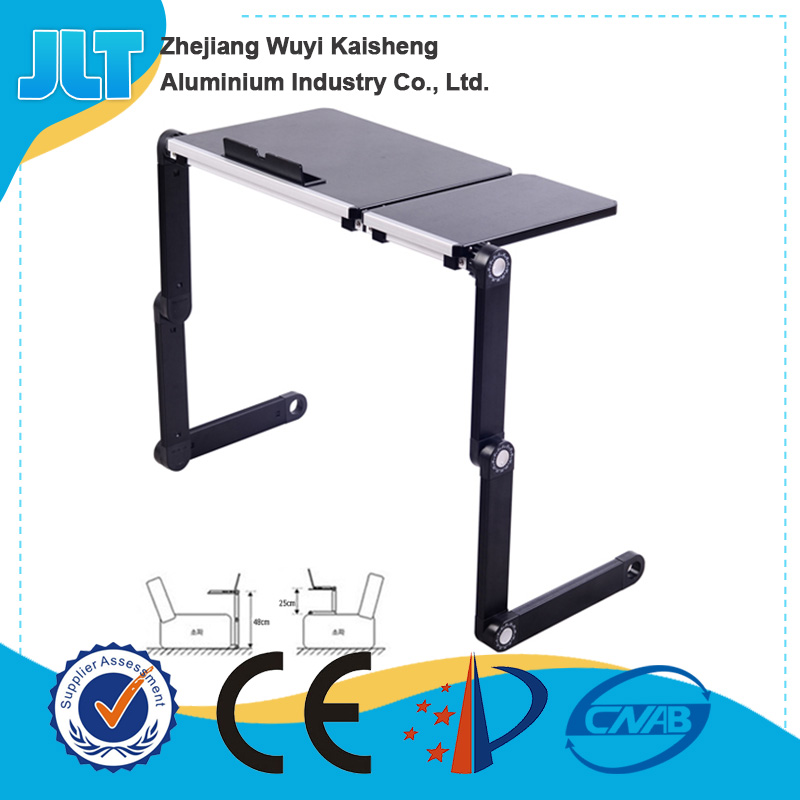 Simple style popular easy adjustable factory supply portable small table for laptop bed tray