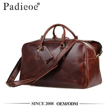 Padieoe PDA038-1 High end craft genuine leather weekend overnight bag