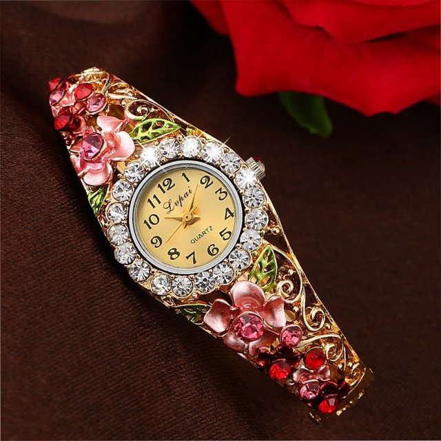 Lvpai 2016 New Brand Women Bracelet Watch Women Fashion Alloy Wrist Watches Women Dress Watches Fashion Gift Quartz Watch