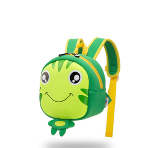 neoprene material frog shaper bag kids mini backpack