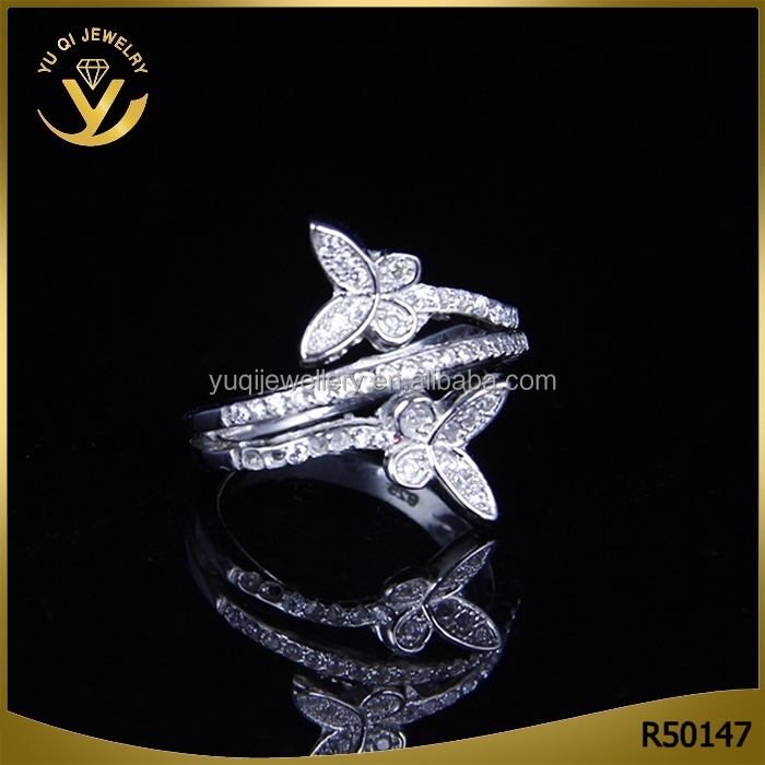 Professional Carve S925 Sterling Silver Wedding Couple Rings with AAA zircon