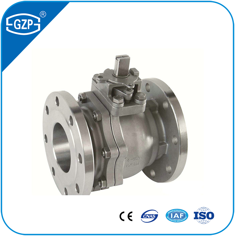 API6D 2 Two Pieces Split Body Flanged High Performance Manual Lever Operated Ball Valve with 150LB 300LB 600LB
