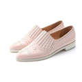 wholesale China factory women flat shoes pictures casual leather ladies shoes