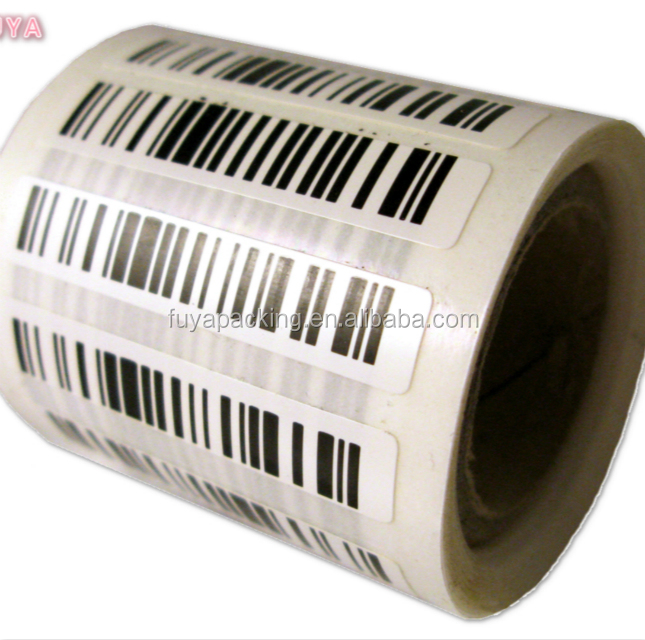 fashion barcode label rolls gold foil black embossed label with matte finished