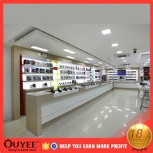 display showcase useful accessories display customer specific mobile phone shop interior design