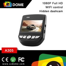 High solution WIFI car video recorder FHD 1080P hidden installation WIFI mini dashcam 2.45inch LCD display