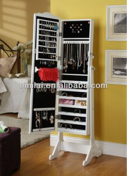 Classic Jewelry Armoire Mirror Storage Cabinets