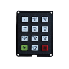 rugged plastic 12 key handphone keypad