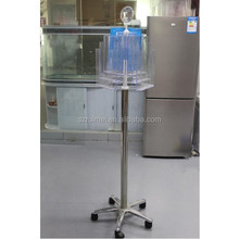 Flooring Rotating 3 Side Acrylic Leaflet Display Stand Rack