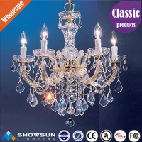 Great hanging glass crystal chandelier