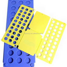 Clothes/T Shirt Folder Blue Plastic 4mm Thickness Shirt Folding Board Easy and Fast Laundry Folder flip fold rack