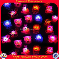 hot sell gift for birthday 2015 Novelty Magnetic Button Led Brooch\/Flashlight Badge