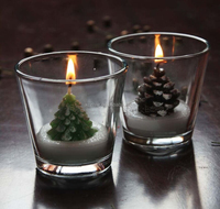 2016 New Christmas Decorative Candles, Christmas Tree In Glass Jar Candle