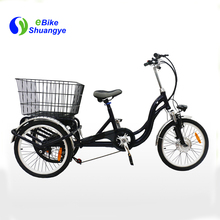 2018 hot sale covered adult 3 wheel electric bicycle