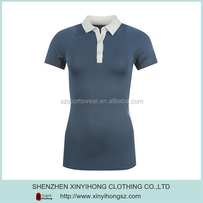 Plain dry fit t shirt polo for women wholesale golf polo for Women s dri fit polo shirts wholesale
