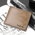 2016 hot sell Man wallet, short and cross parttern multi card slot wallet for men