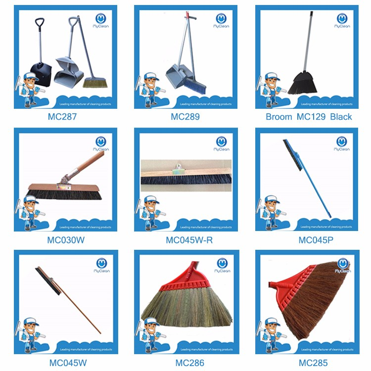 stainless steel handle angle broom in china